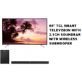 TCL 65P615 Smart Television with 2.1 Channel Sound Bar with Wireless Subwoofer