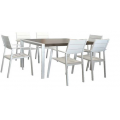 Oxford Aluminium 7PC Dining Setting w/Slat Chairs