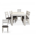 FLORIDA BRUSHED WHITE 9PCE DINING SUITE