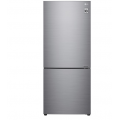 LG 454L GB-455PL Bottom Mount Fridge with Door Cooling in Stainless Finish