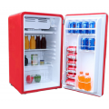 Heller 90L Red Retro Bar Fridge - HRBF90R