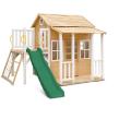 Finley Cubby House with Green Slide- LKCH-FINLEY-GRN