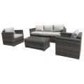 MILFORD 4 PC OUTDOOR LOUNGE SETTING