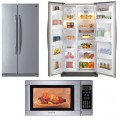 Stainless Steel Side By Side and Microwave Deal