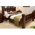 RUSTIC KING SINGLE BED WITH PILLOWTOP MATTRESS