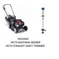 VICTA MUSTANG 4 STROKE MOWER + STRAIGHT SHAFT TRIMMER