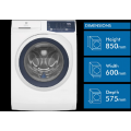 ELECTROLUX EWF7525DQWA 7.5kg front load washer, Quick 15 option
