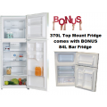 Chiq 370L CTM370W Top Mount Fridge with BONUS 84L Bar Fridge