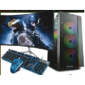 "Gaming Desktop - 31.5"" Curved Monitor, Gaming Keyboard & Gaming Mouse, Gamer Desktop"