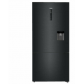 Haier Refrigerator Freezer, 70cm, 450L, Water, Bottom Freezer HRF450BHC2- Black Finish