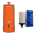 Southern Cross Pottery Ultra Slim Ceramic Water Purifier Orange + Bonus Sterasyl Filter