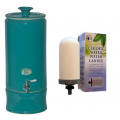 Southern Cross Pottery Ceramic Water Filter Purifiers - Peacock Green + SCP Fluoride Plus Filter. ONLY $19 per week on a 6 month rental contract