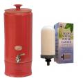 Southern Cross Pottery Water Purifier 10L Ultra Slim Red + Bonus Sterasyl Filter