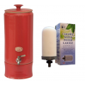 Southern Cross Pottery Water Purifier (10L Ultra Slim Pinky Red + SCP Fluoride Plus Filter - 6 Month Rental Contract Only $19 per week