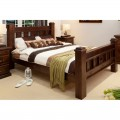 Rustic King Size Wooden Bed