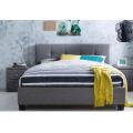 VILLA DOUBLE 5 PIECE FABRIC BEDROOM SUITE - GREY